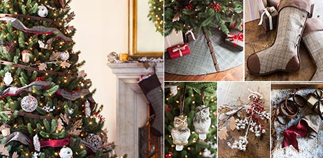 woodland capture the beauty of nature with rustic christmas decorations in rich earth tones shop now