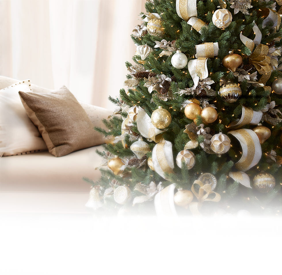 artificial christmas trees, christmas ornaments & home decor