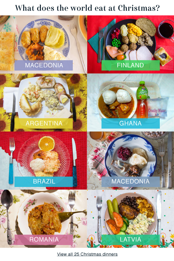 What does the world eat at Christmas?