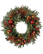 Decorated Artificial Wreaths and Garlands