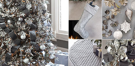 crystal palace create a refined display with our elegant decor accents in shimmering metallic hues shop now - White Christmas Decorating Theme