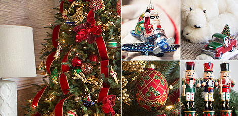 christmas cheer family room gather loved ones together to create picture perfect memories with a timelessly beautiful backdrop of cheery red and green hues - Christmas Tv Decoration
